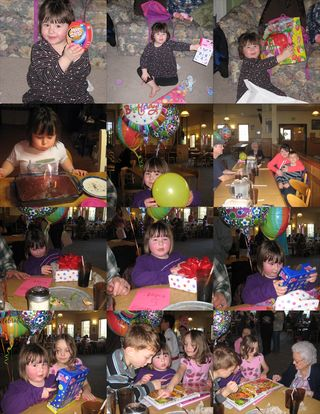 Chloee's 5th birthday Collage